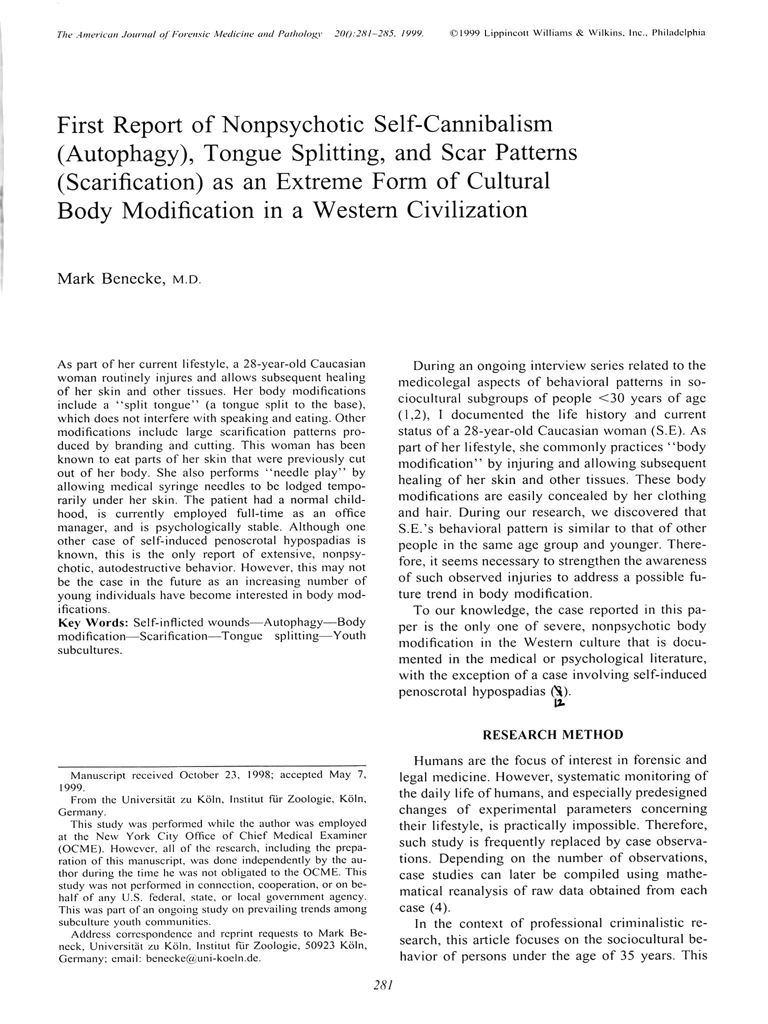 Benecke Pathologe