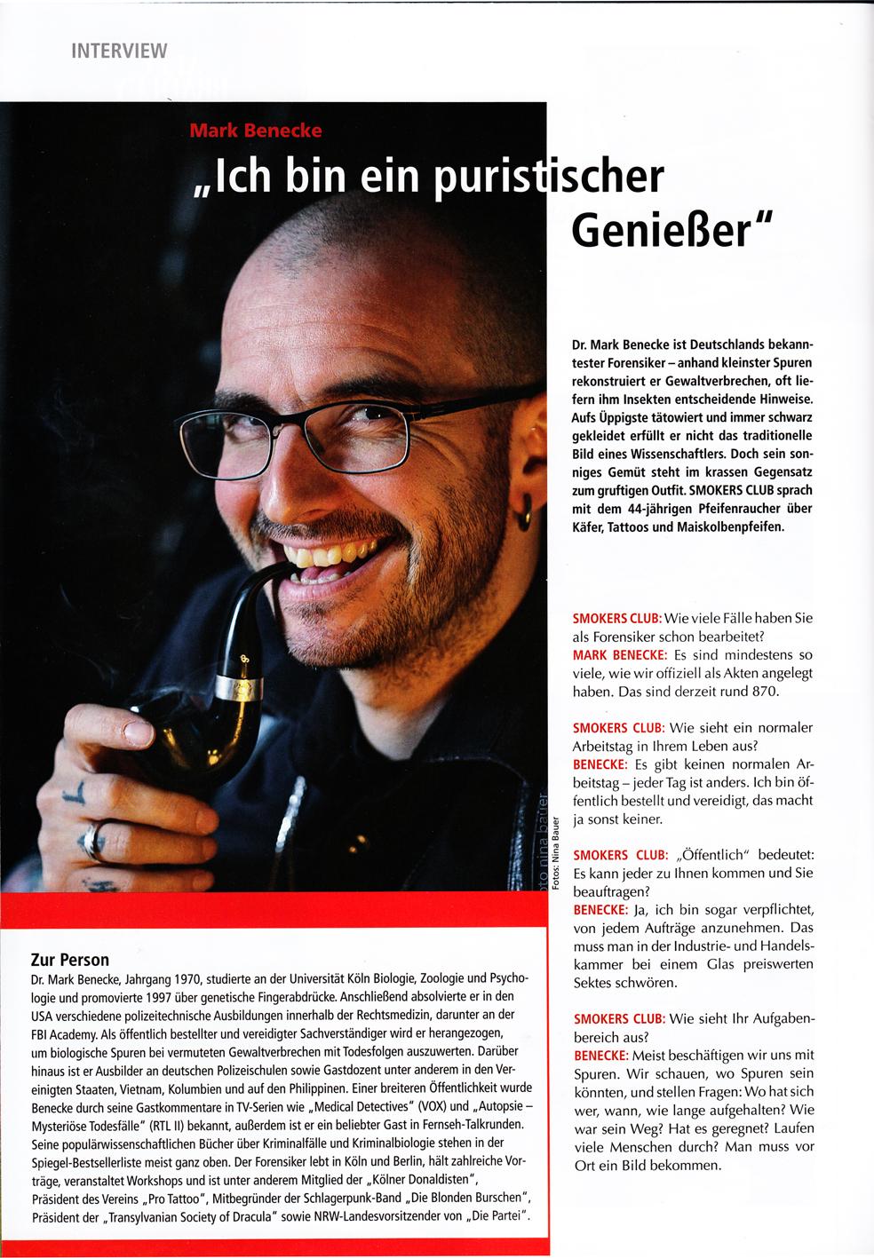 2015 Smokersclub Ich Bin Ein Puristischer Geniesser Mark Benecke
