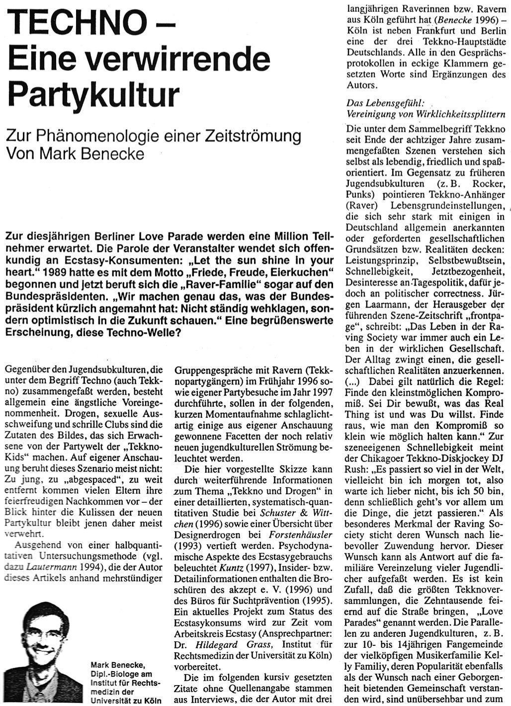 1997 Kriminalistik 51 Techno Zur Phänomenologie Einer Zeitströmung