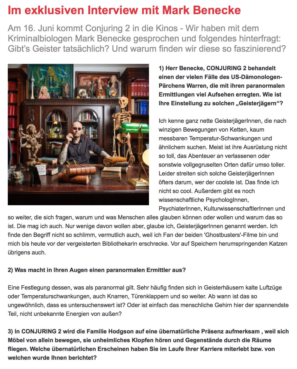 2016 06 10 Like Gibt Es Geister Tatsaechlich Mark Benecke