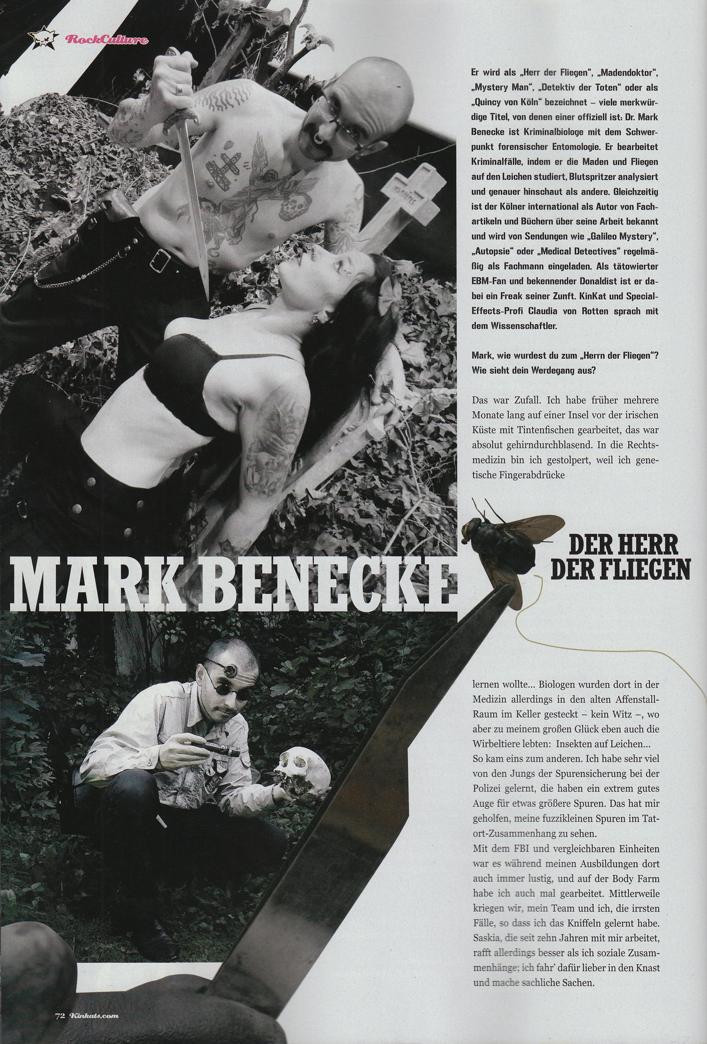 2010 Februar Maerz Kinkats Mark Benecke Mark Benecke Forensic Wiki