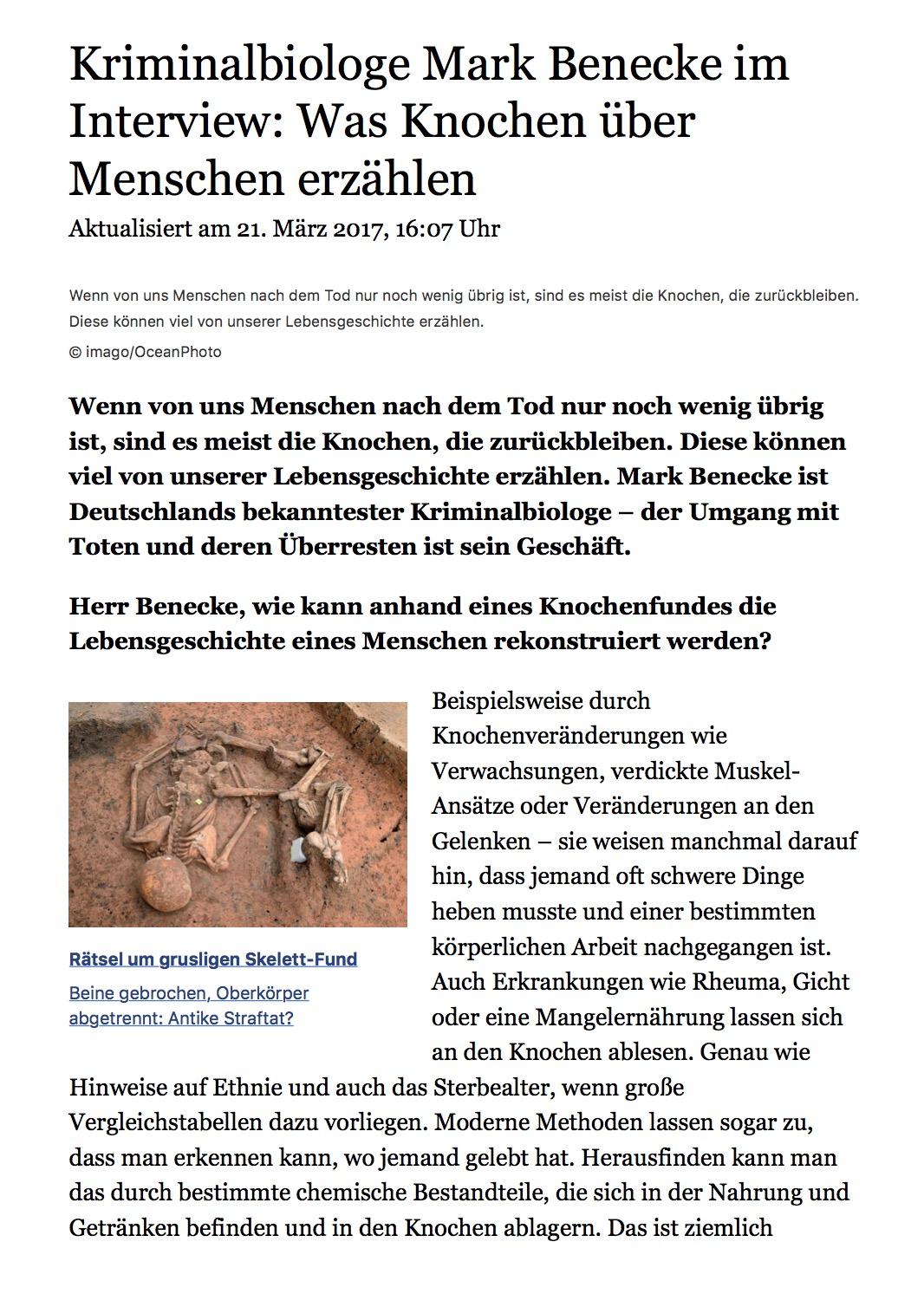 2017 03 web de: Was knochen ueber Menschen verraten - Mark Benecke ...